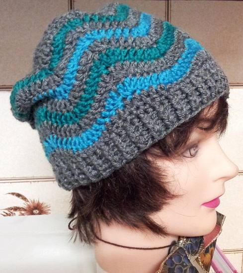 chevron crochet hat free pattern