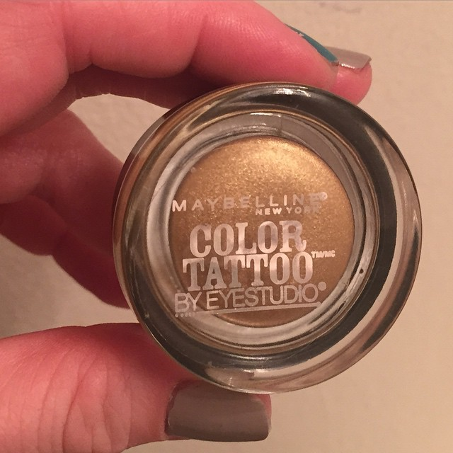Maybelline, Maybelline Eye Studio Color Tattoo 24Hr Eyeshadow Bold Gold, eyeshadow, eye makeup, cream eyeshadow