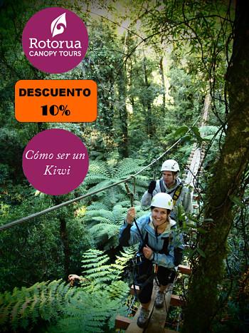 10% de descuento en el Canopy Tour de Rotorua