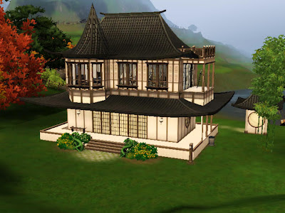 sims 3 asian pagoda