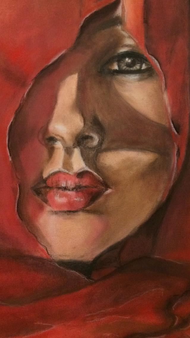 A mulher de vermelho ...