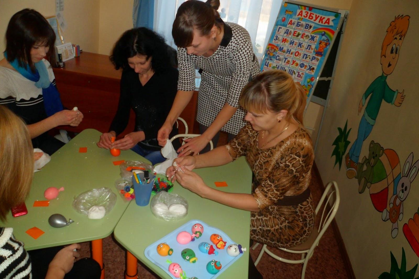 Мастер класс с родителями в детском саду