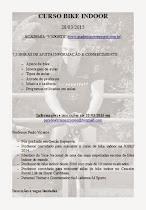 CURSO BIKE INDOOR EM CURITIBA 28/03