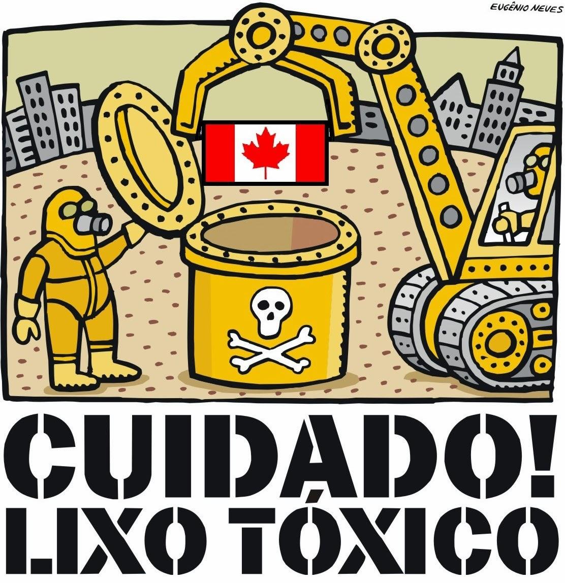 Eugenio Neves (edited): Cuidado! Lixo Tóxico - Stephen Harper's Canada.