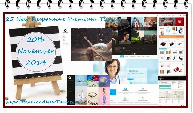 25 New Responsive Premium Themes 2014