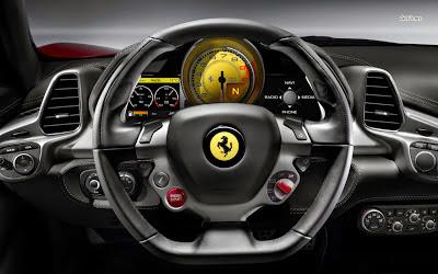 interior mobil ferrari italia f458