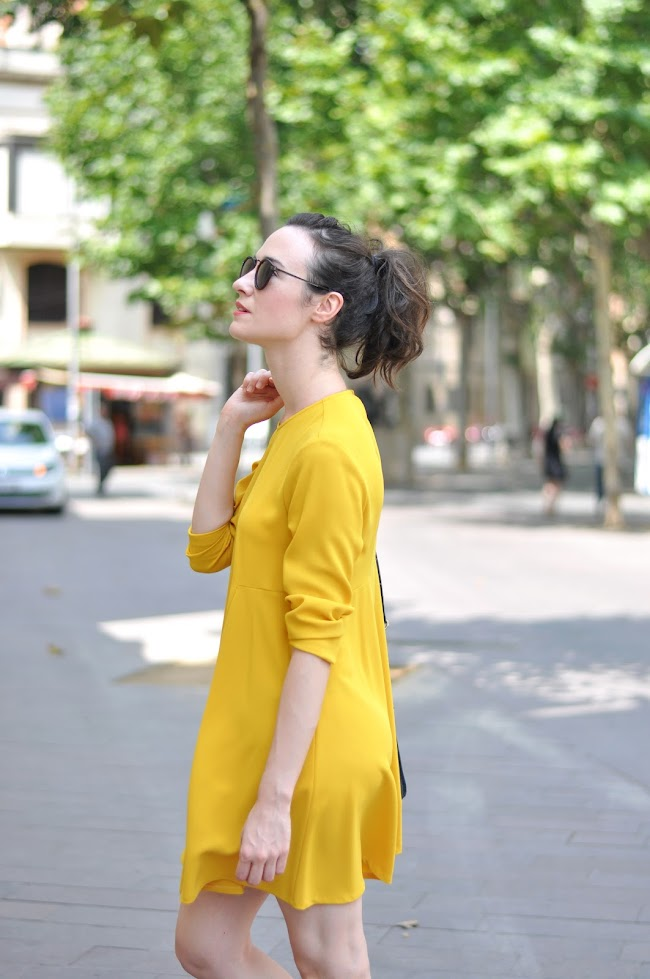 mustard yellow dress