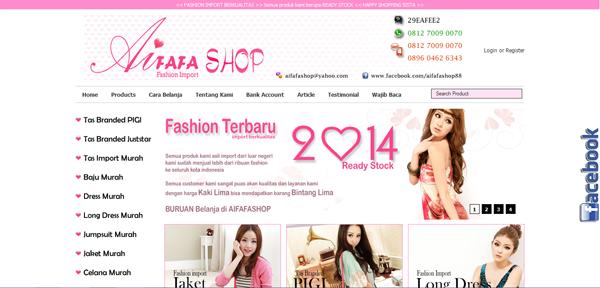 Aifafashop.com Toko Online Fashion Import Terpercaya