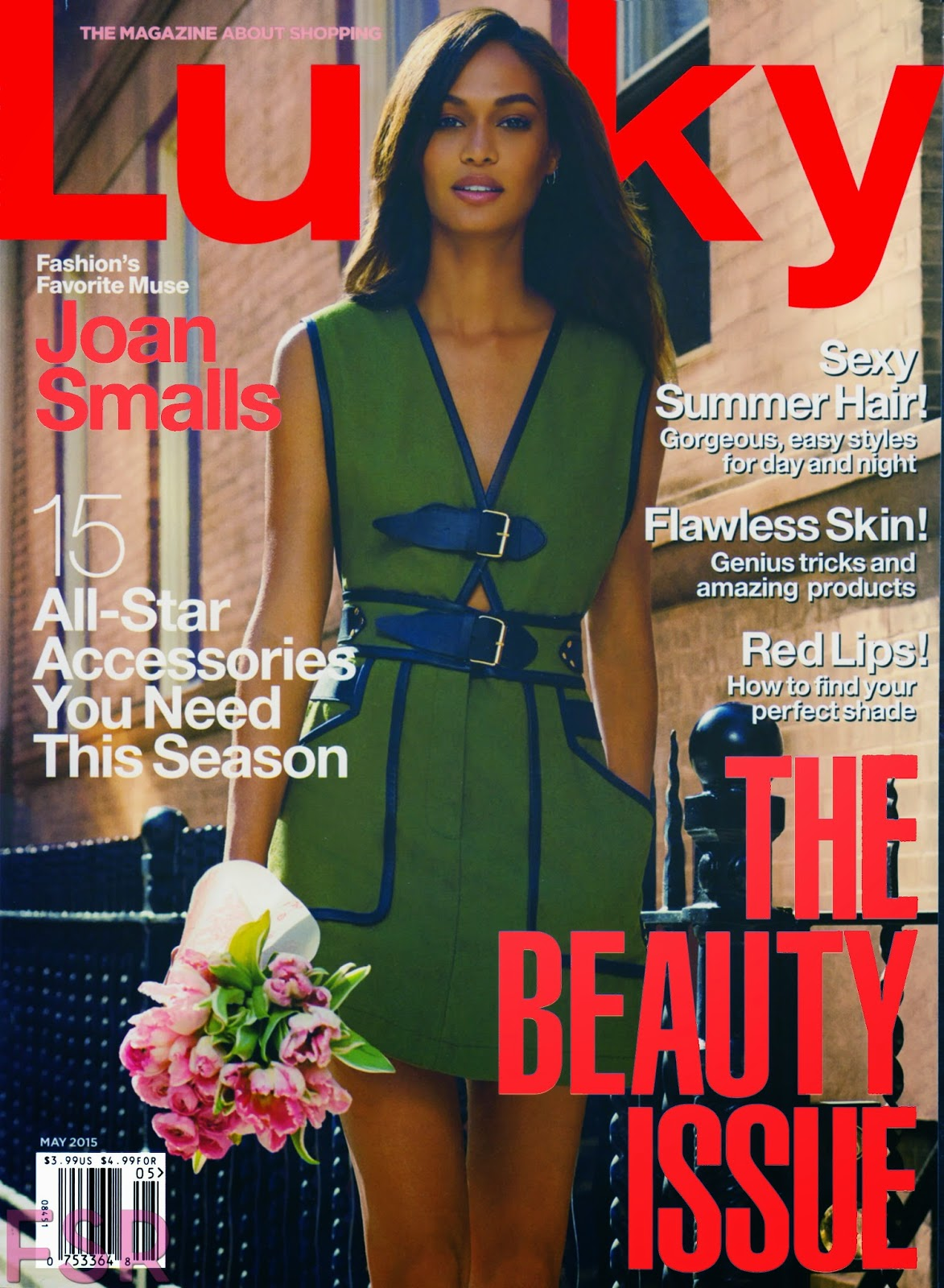 Fashion Model @ Joan Smalls by Miguel Reveriego for Lucky May 2015