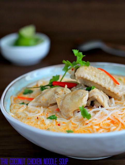 my bare cupboard: Thai coconut chicken noodle soup