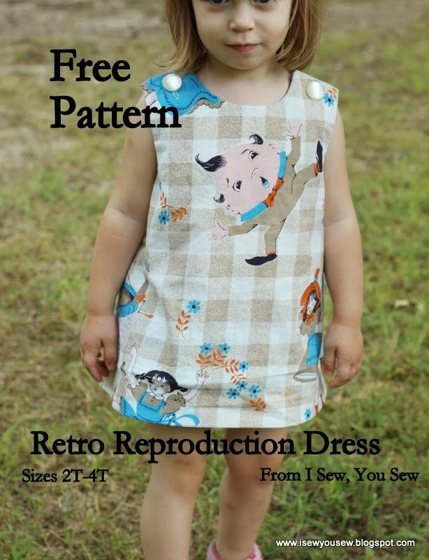 http://isewyousew.blogspot.com/2014/07/retro-reproduction-dress-free-pattern.html