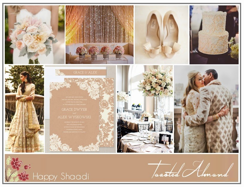 pantone toasted almond indian wedding inspiration color board