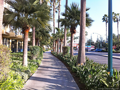 Walk Trek Paradise Pier Hotel to Disneyland DCA shortcut