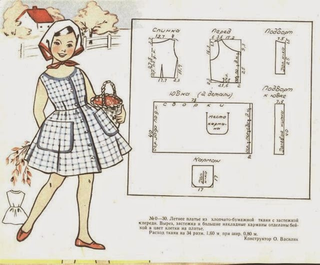 Выкройки детское платье своими руками