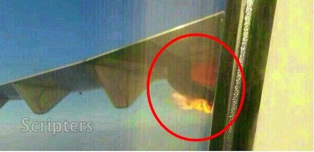 Enjin Pesawat Malindo Air Terbakar Di udara