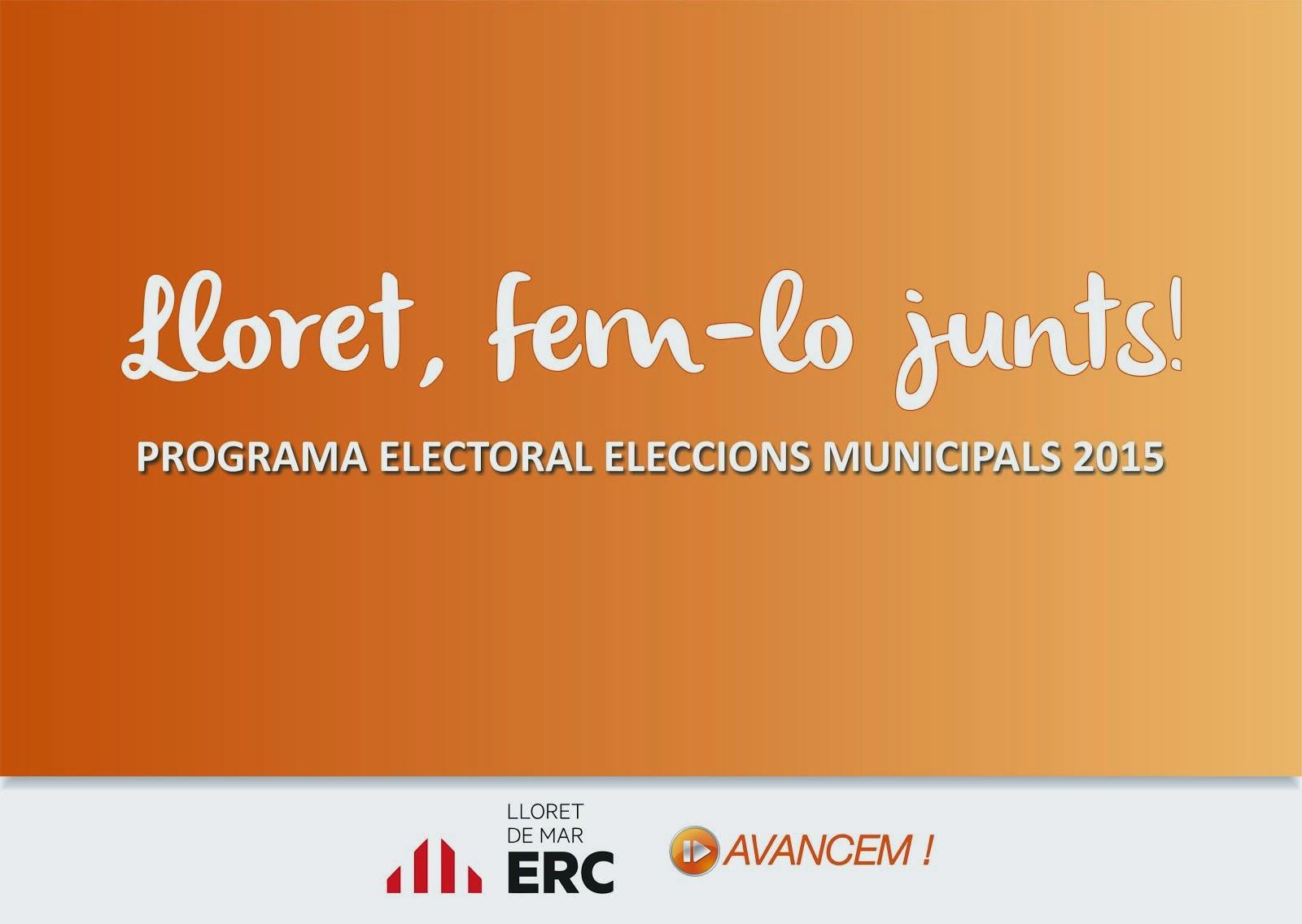 Programa electoral ERC-Avancem