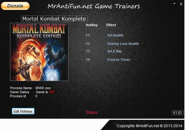 Mortal Kombat Komplete 7-27-2014 Trainer +4 MrAntiFun
