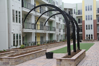 pergolas, wrought iron railings, railings, balconies, balcony railings