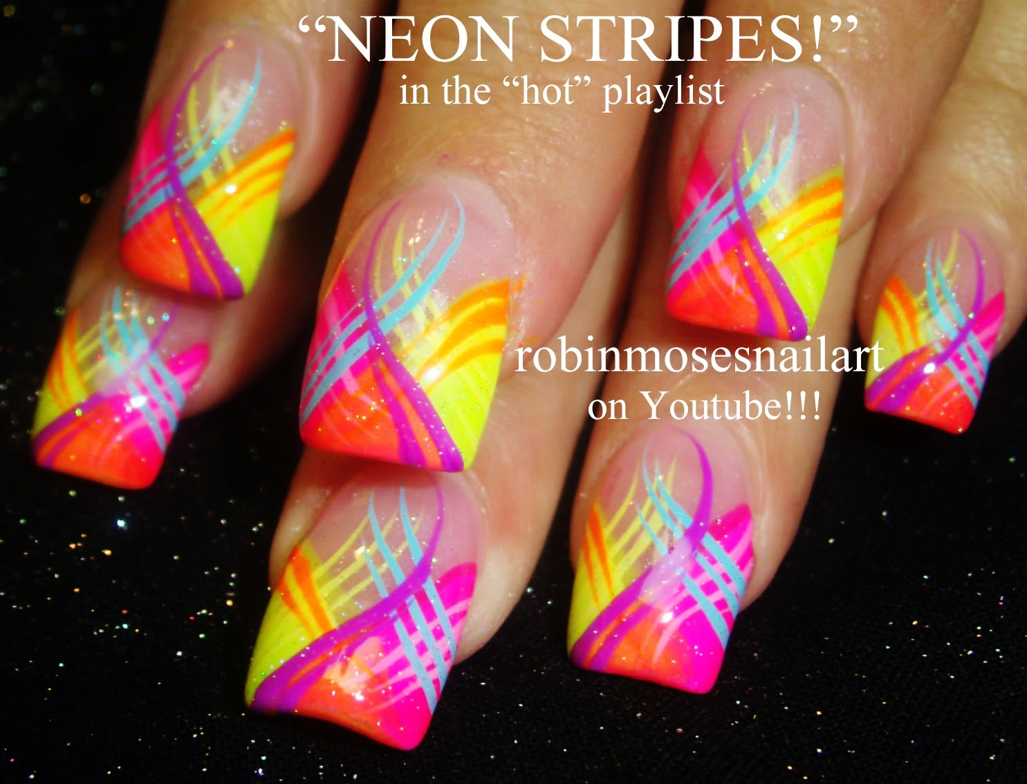 Hot Nail Art Playlist! (Foil, Animal prints, Bling, Party nails!) - Robin Moses Nail Art: