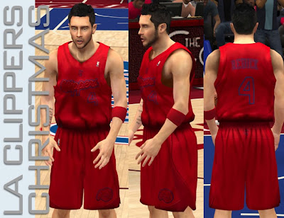 NBA 2K13 L.A. Clippers Winter Court Jersey Mod