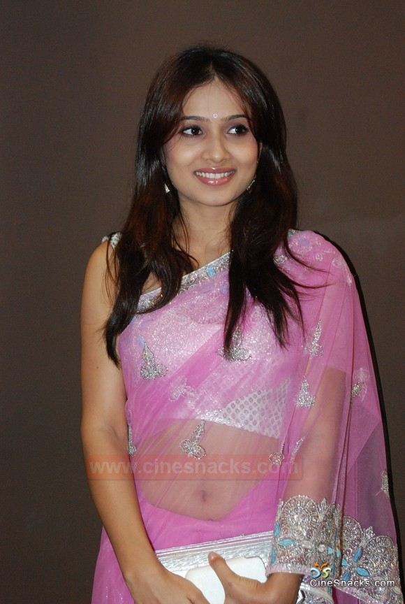 Hot Dipa Shah In Pink Saree