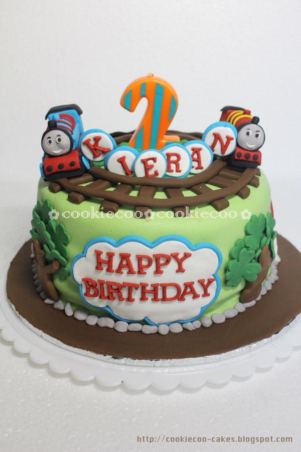 cookiecoo Thomas and friends cake for Kieran