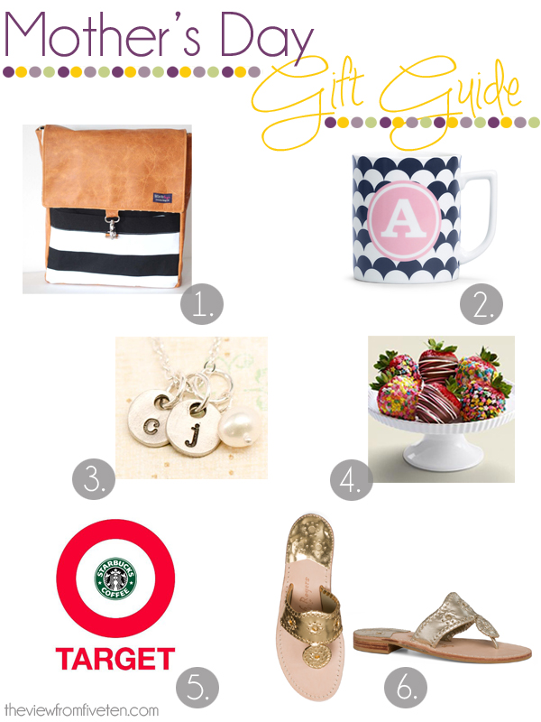 Mother's Day Gift Ideas via theviewfromfiveten.com