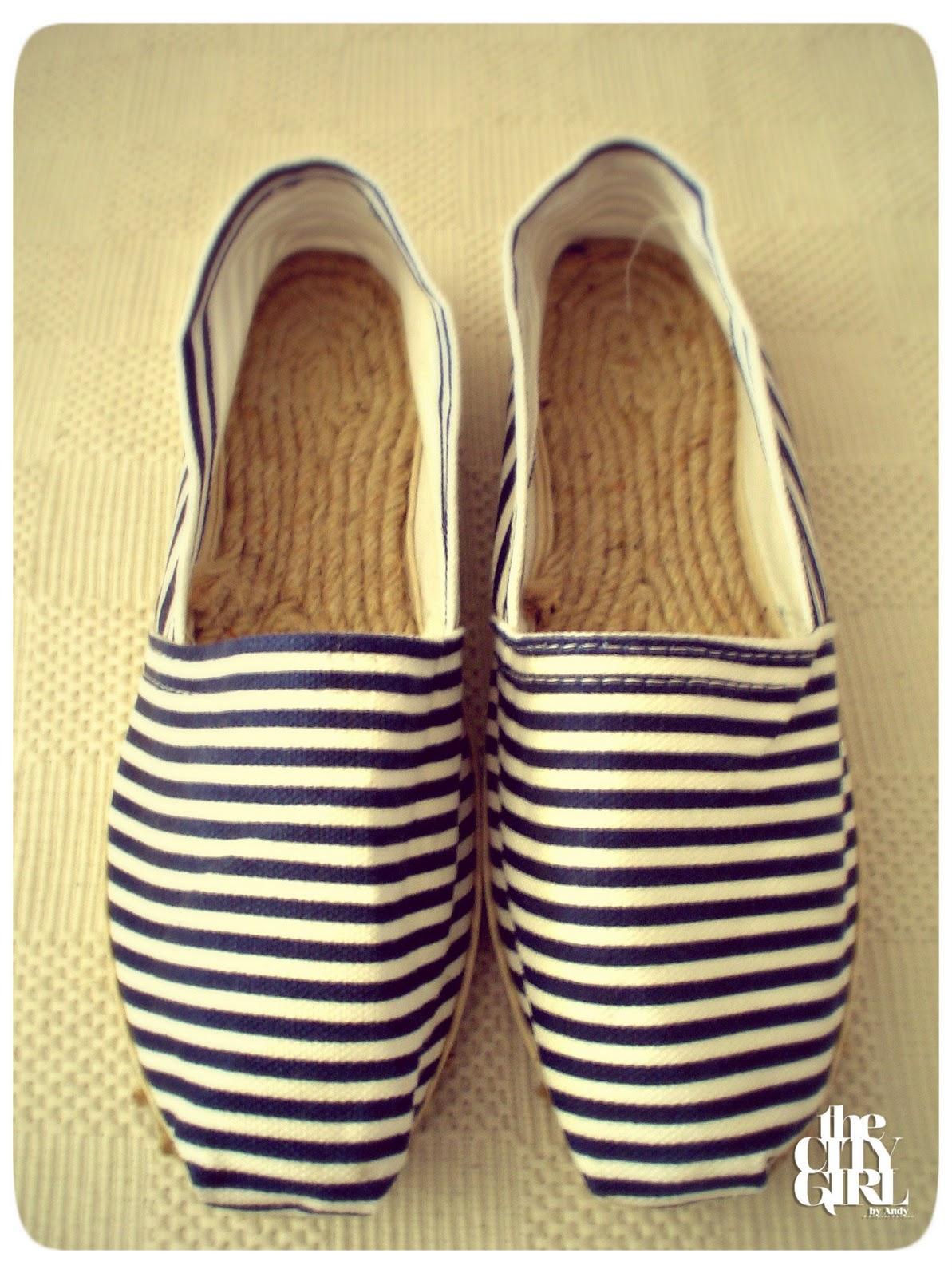 2 semanas que estas alpargatas marineras me hacían ojitos! fanática nº1 de este tipo de zapatos por lo cómodos y fresquitos que son, asi que ya están en