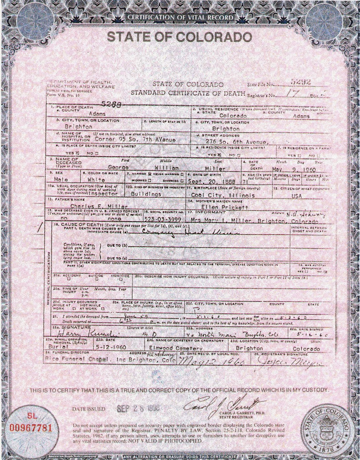The genealogical blog of don miller information available on information available on marriage certificates xflitez Choice Image
