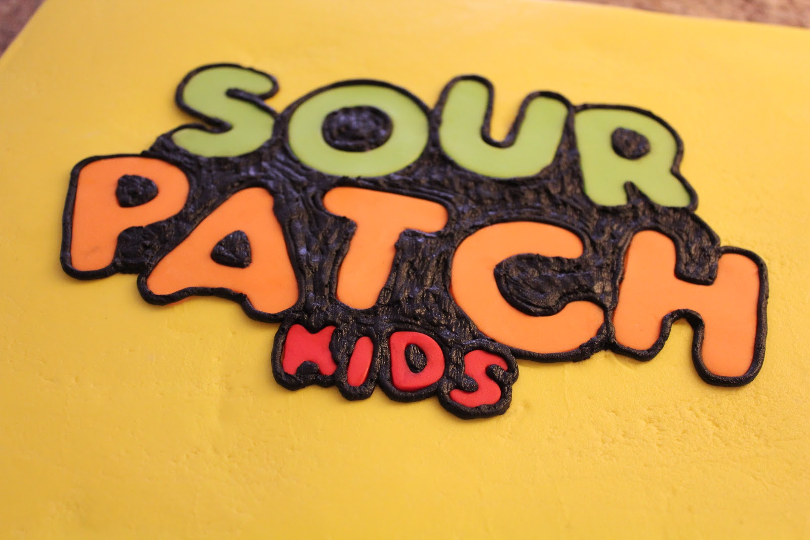 how to make a sour patch kid cake