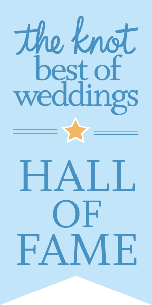 VOTED in the HALL OF FAME - the knot best of weddings