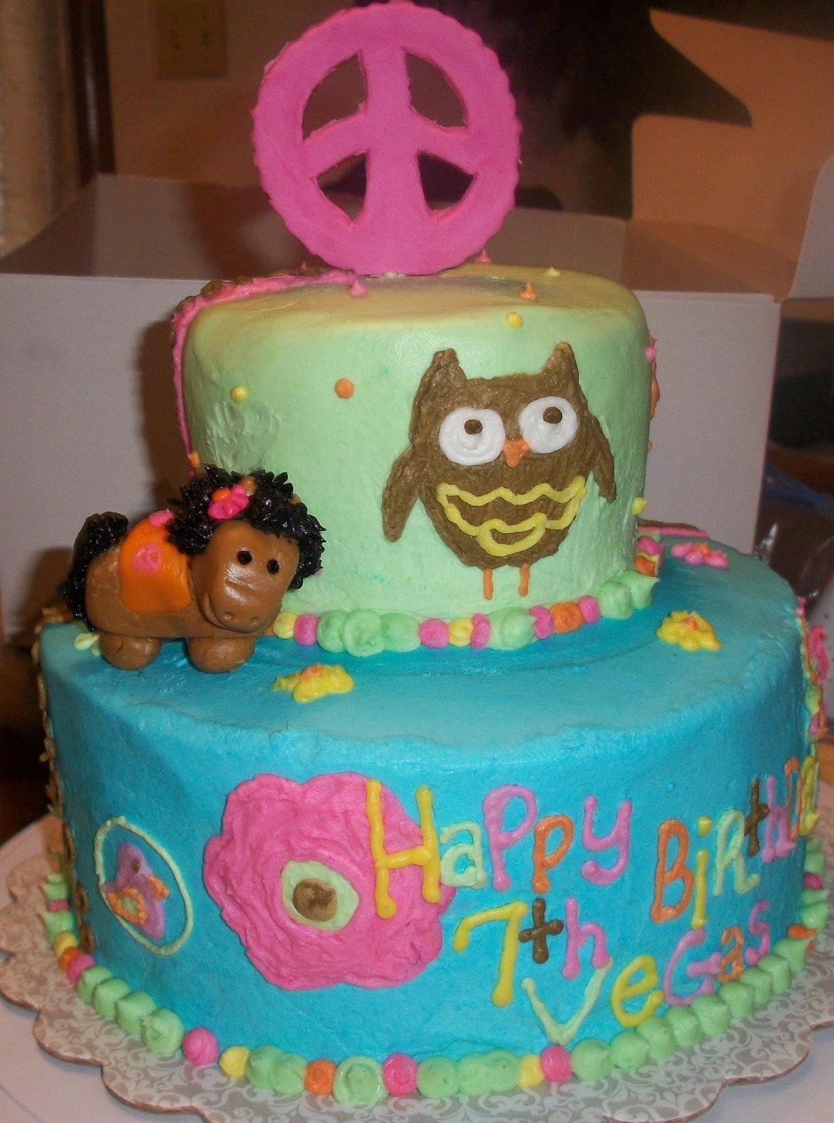 hippie chick birthday cakes