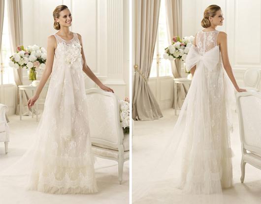 vestidos de novia estilo boho chic y gypsy de pronovias – colección