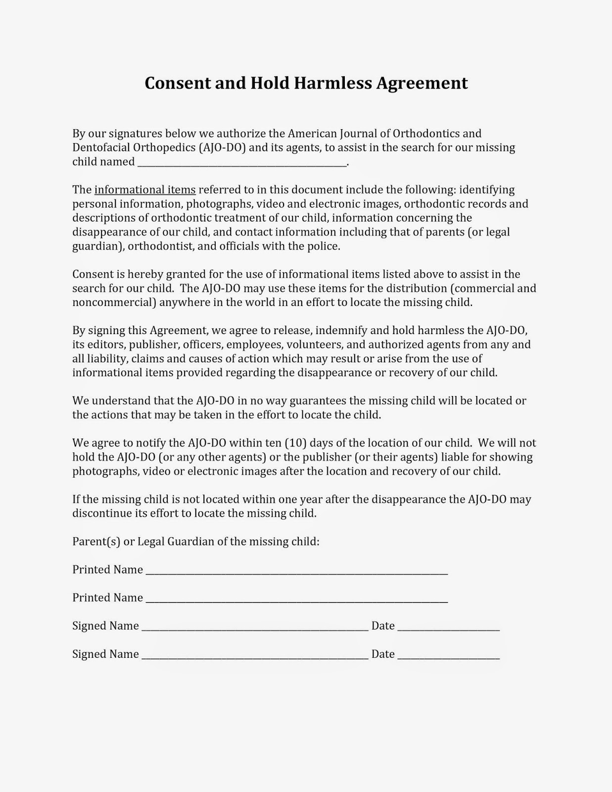AJODO Blog Consent Form – Consent Form