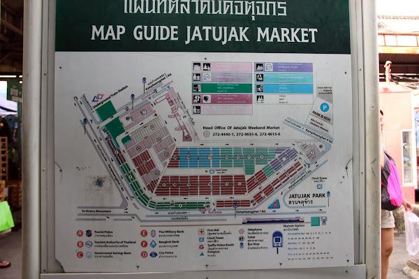 Mapa del Mercado de Chatuchak