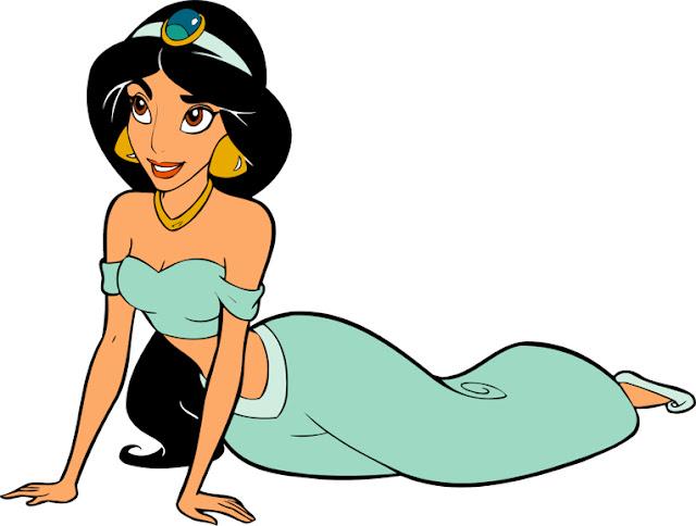 Princesas Jasmine desenho colorido Disney