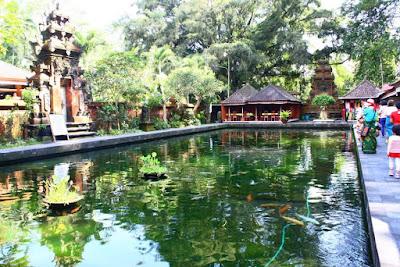 Holy water pond at Goa Gajah Gianyar Bali