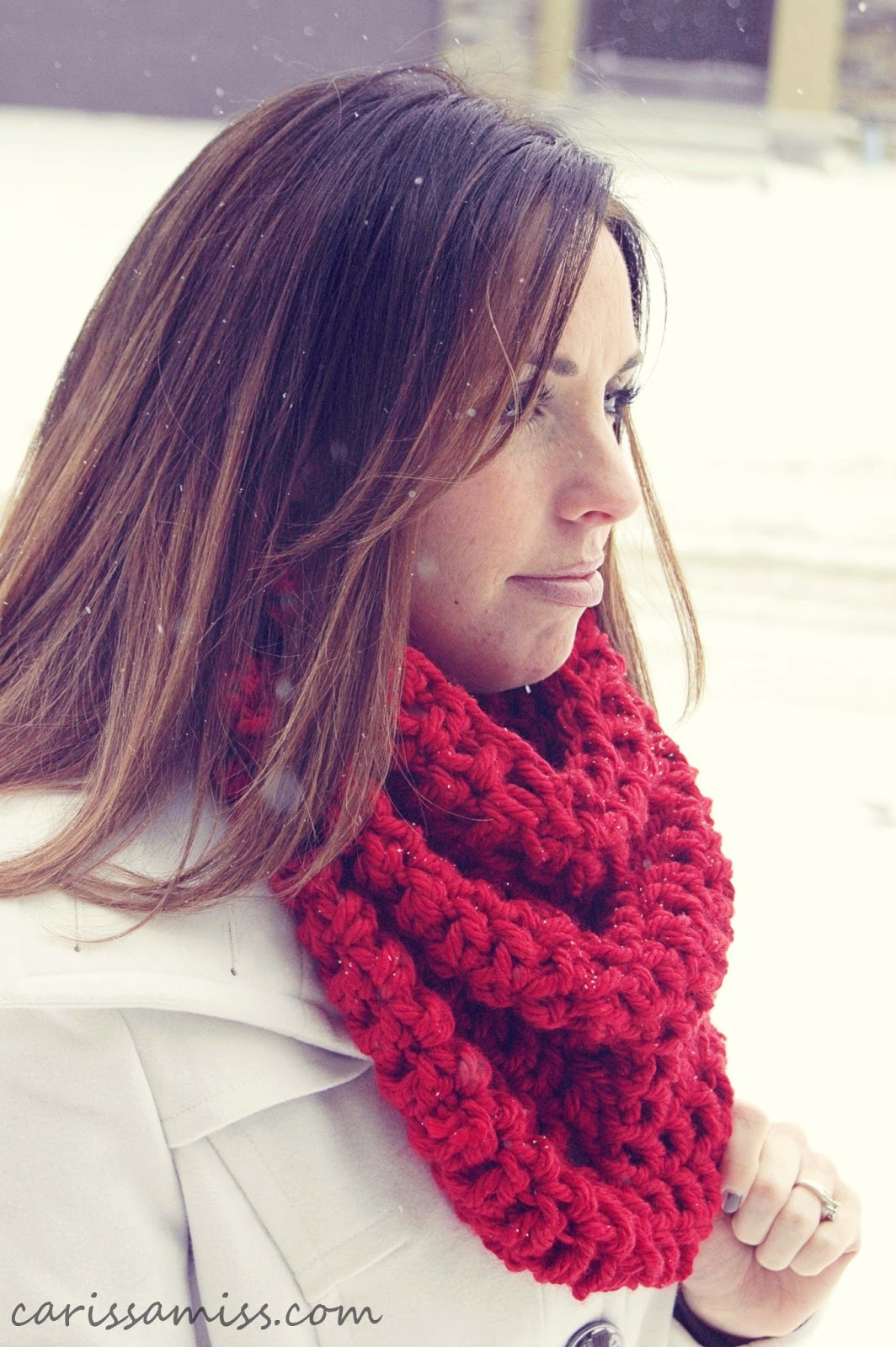 Crochet Infinity Scarf Free Tutorial : Crochet Infinity Scarf Tutorial Carissa Miss