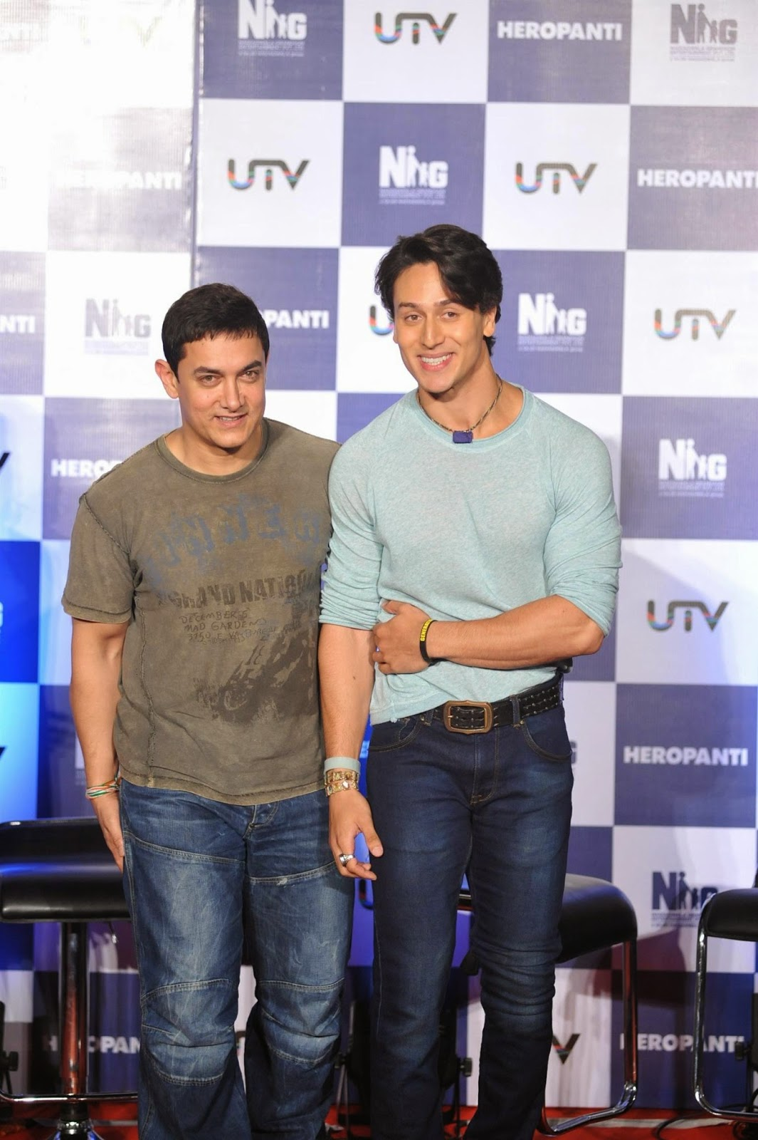 Aamir Khan, Tiger Shroff at First Look Launch of Heropanti Movie