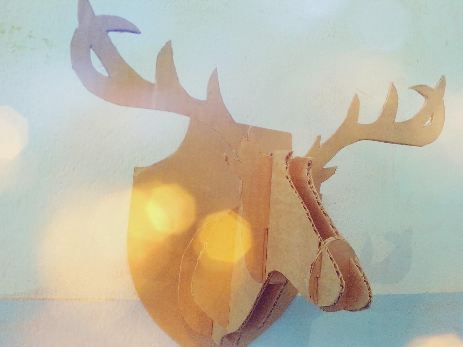 Blogarte hazlo t mismo decora tu habitaci n diy cabeza de ciervo blogarte - Cabeza ciervo carton ...