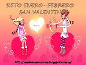 Reto San Valentin, orgniza, en el blog mis dulces locuras