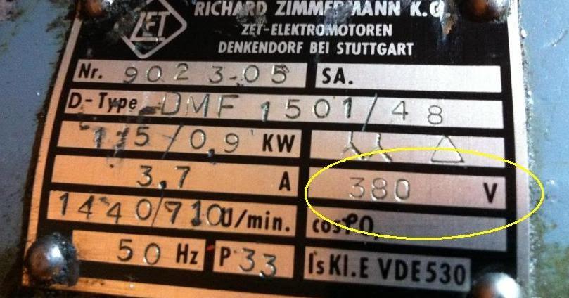 Name Plate Motor 3 Phasa  Umum