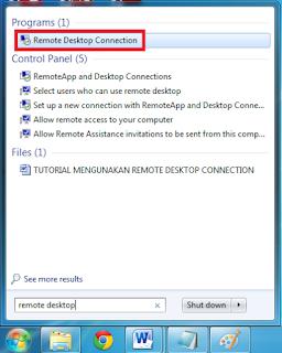 Cara Remote Desktop Pada Windows 7