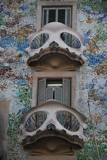 Balcón calavera. Casa Batlló. Gaudí. Barcelona