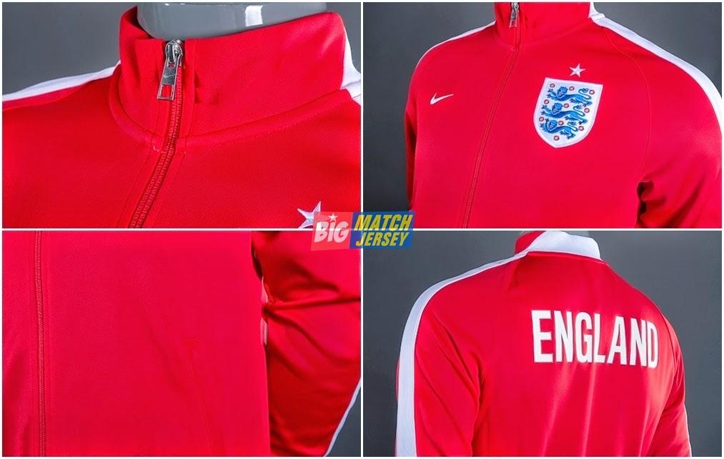 Detail Jaket GO Piala Dunia 2014 Inggris Autentik N98 Red - White