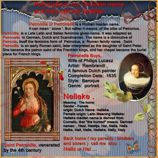 Jan.2016 – The meaning of Petronella – Nelleke