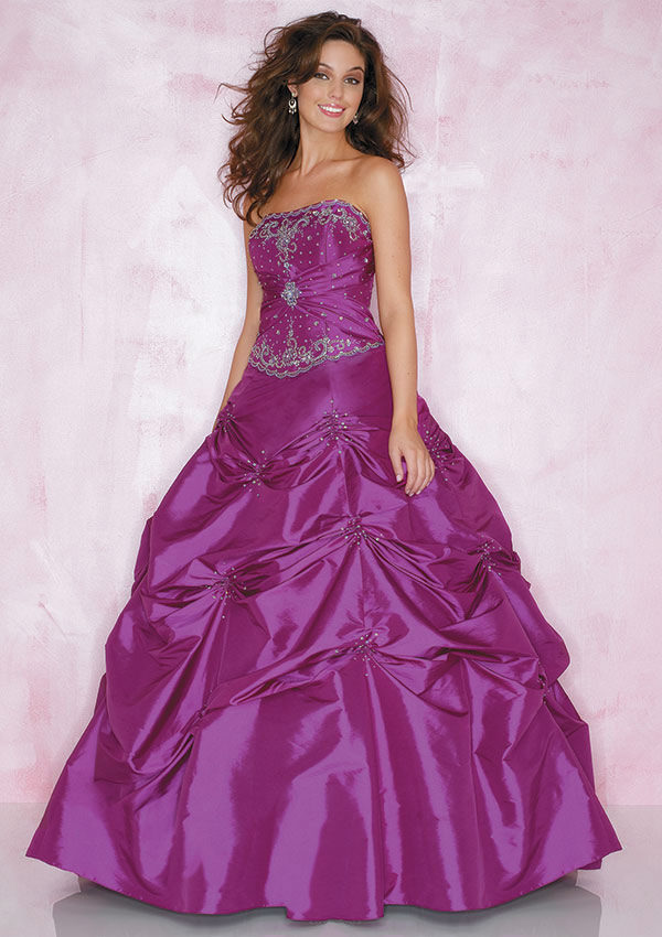 The elegant and long prom dress