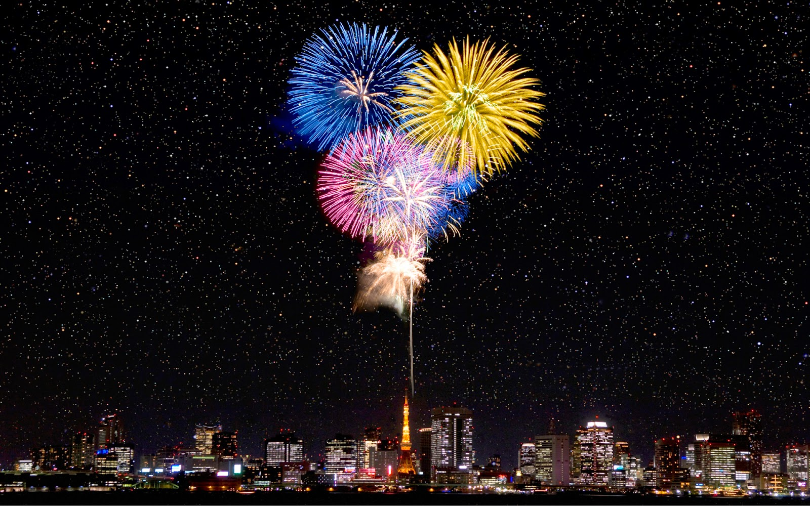New Year Fireworks in Japan