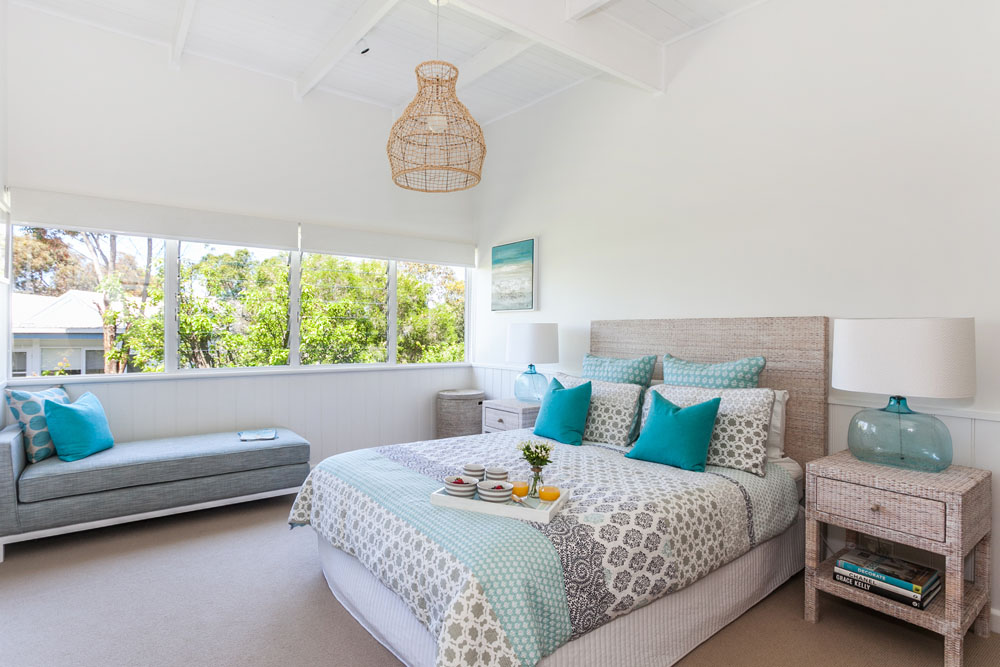 Coastal style my beach house master bedroom for How much rooms does the white house have