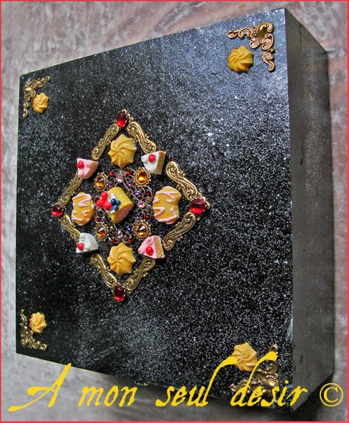 Coffret Boite à Bijoux Gâteau Gourmand Fraise Dessert Gourmandises Kawaii Yummy Cake Cupcake Jewelry Box Strawberries & Cream Cheesecake